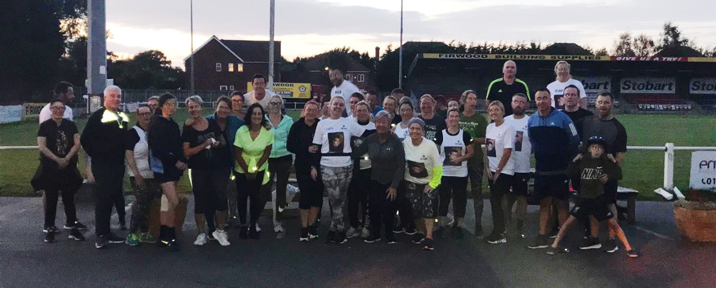 In memory of colin mcginty social skedaddle social running club in crosby