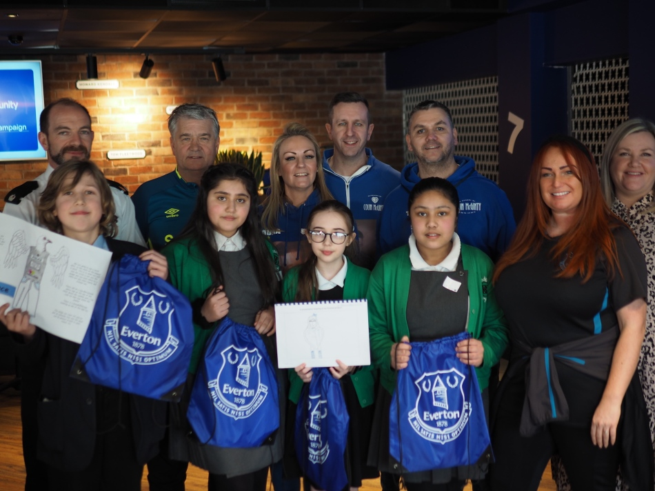 In Memory of Colin McGinty everton in the community mascot